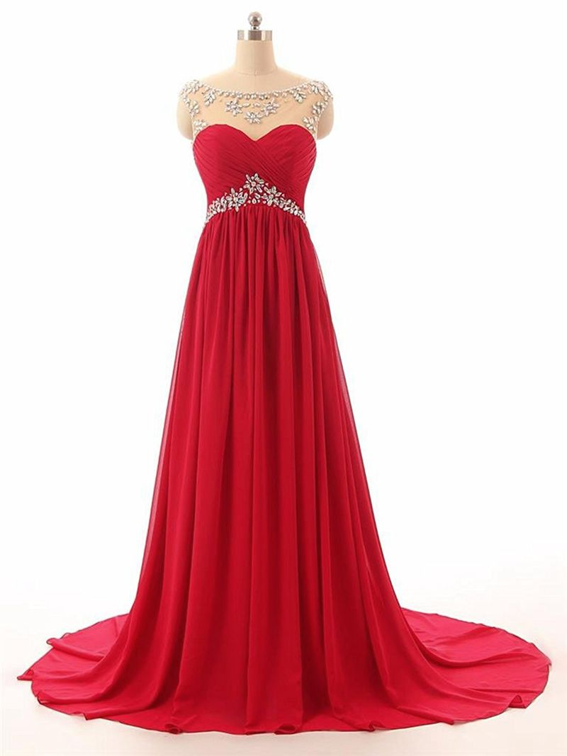 Athena red scarlet crimson chiffon crystal beaded long bridesmaid evening prom formal occasion cruise wedding bridal dress uk