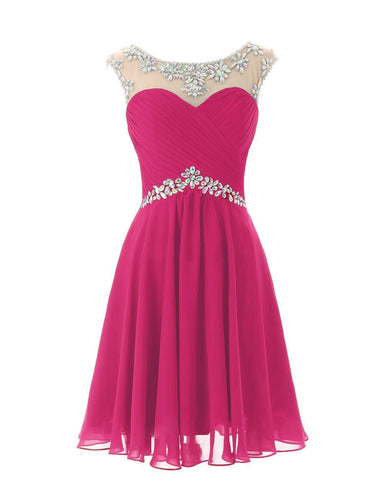 Athena Fuchsia Hot Pink Cerise beaded sequin long bridesmaid prom evening wedding bridal dress loulous bridal boutique uk