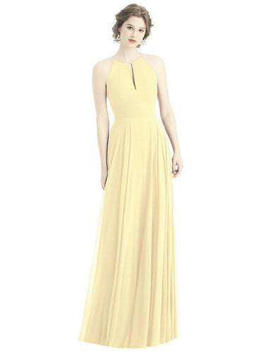 Abbie Lemon chiffon long bridesmaid wedding bridal dress loulous bridal boutique ltd uk