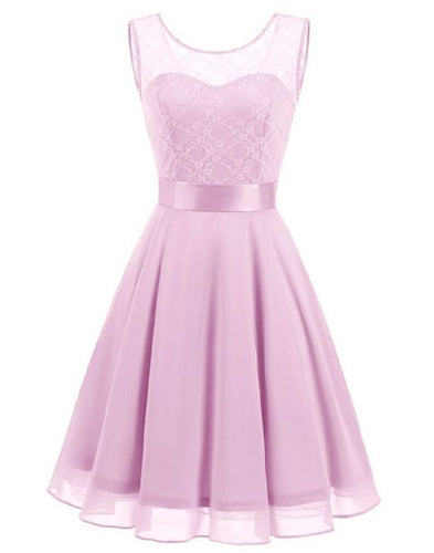 amelie pale light pink lace chiffon short bridesmaid dress loulous bridal boutique ltd uk