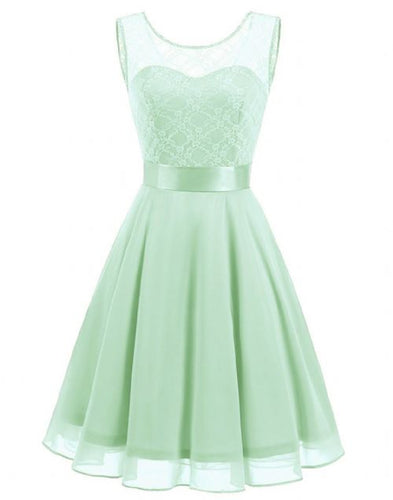 amelie pistachio light pale green  lace chiffon short bridesmaid dress loulous bridal boutique ltd uk
