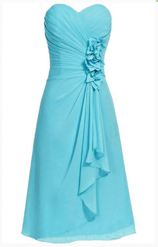 April aqua spa turquoise blue  strapless corsage long draped frill bridesmaid wedding bridal dress loulous bridal boutique ltd uk
