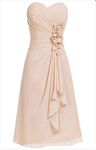 April betsie champagne cream short strapless corsage bridesmaid wedding bridal evening dress uk
