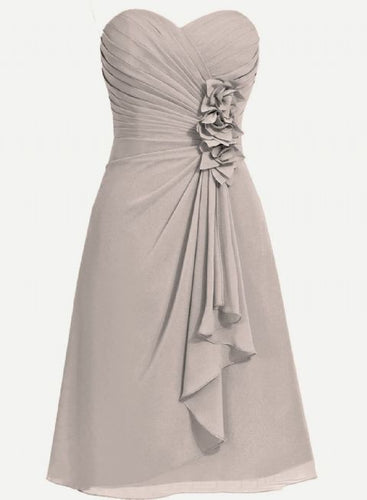 April betsie mink taupe mocha coffee short strapless corsage bridesmaid wedding bridal evening dress uk