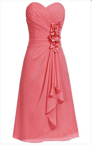 April betsie coral orange short strapless corsage bridesmaid wedding bridal evening dress uk