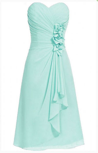 April betsie pale light mint green pastel short strapless corsage bridesmaid wedding bridal evening dress uk