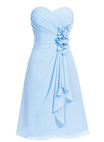 April betsie pale light baby blue short strapless corsage bridesmaid wedding bridal evening dress uk