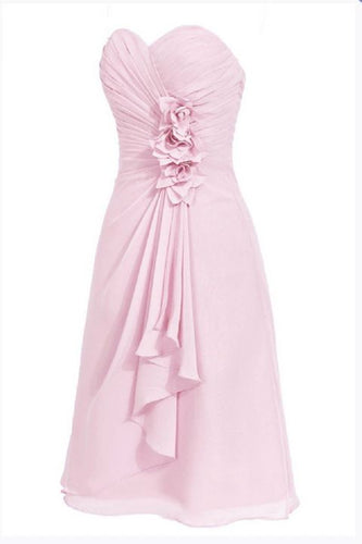 April betsie pale pastel light pink short strapless corsage bridesmaid wedding bridal evening dress uk