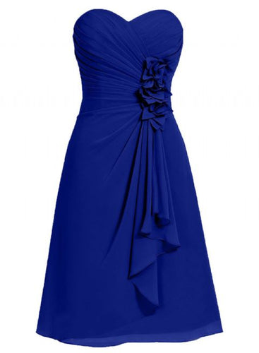 April betsie royal blue short strapless corsage bridesmaid wedding bridal evening dress uk