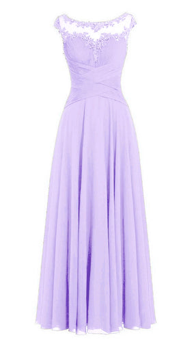 Jessica lilac mauve lavender sorbet Chiffon Lace Long Bridesmaid Wedding Prom Evening Formal Maxi Occasion Dress UK
