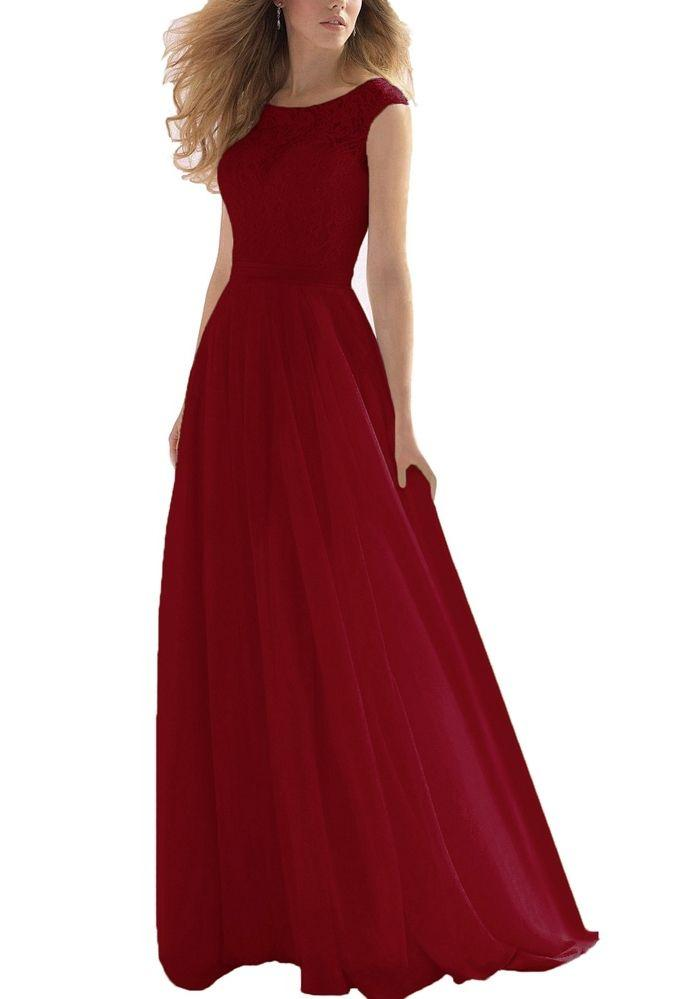 HAYLEY BERRY BURGUNDY LACE CHIFFON LONG BRIDESMAID EVENING PROM DRESS LOULOUS BRIDAL BOUTIQUE UK