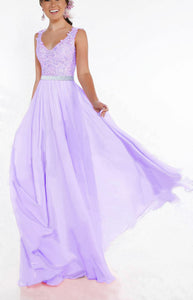 Beth lilac mauve lace chiffon sequin crystal beaded long bridesmaid wedding bridal prom evening dress loulous bridal boutique uk