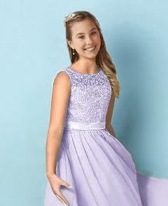 Heidi lilac sorbet mauve lace chiffon junior flower girl bridesmaid dress loulous bridal boutique ltd