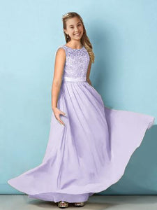 Heidi lilac mauve sorbet lace chiffon vneck junior flower girl bridesmaid dress loulous bridal boutique ltd