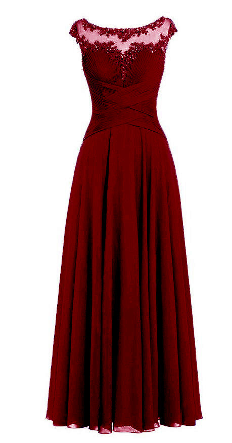 Jessica burgundy wine maroon Chiffon Lace Long Bridesmaid Wedding Prom Evening Formal Maxi Occasion Dress UK