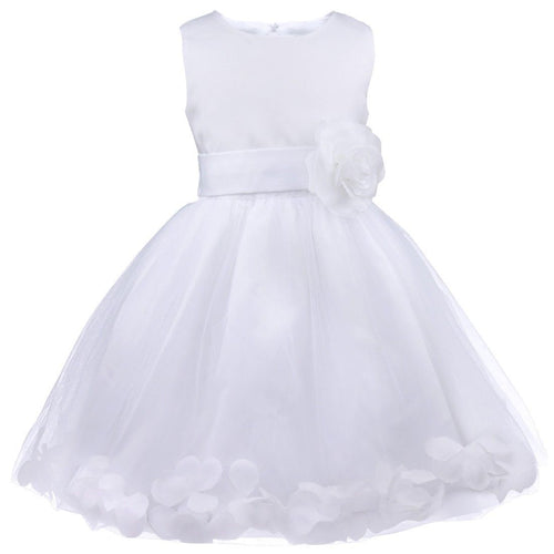 Bonnie white  floating petals floral flower bridesmaid flower girl girls party dress uk