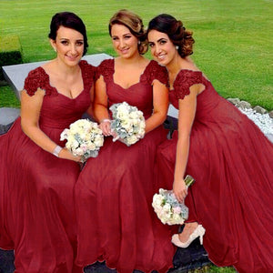 Caitlin Berry burgundy wine Lace sequin beaded sleeve bridesmaid wedding prom dress loulous bridal boutique ltd uk