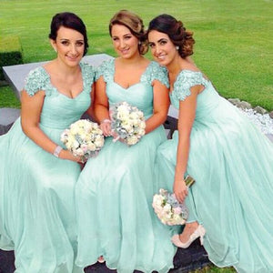 Caitlin pale mint green lace chiffon sequin beaded bridesmaid wedding bridal dress loulous bridal boutique uk