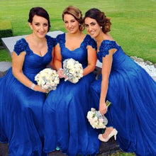 Caitlin royal blue Lace sequin beaded sleeve bridesmaid wedding prom dress loulous bridal boutique ltd uk