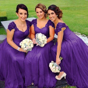 Caitlin Cadbury Purple lace chiffon sequin beaded bridesmaid wedding bridal dress loulous bridal boutique uk