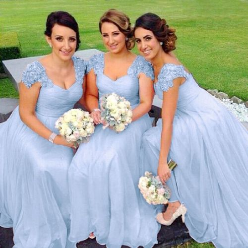 Caitlin Lace sequin beaded sleeve bridesmaid wedding prom dress loulous bridal boutique ltd uk
