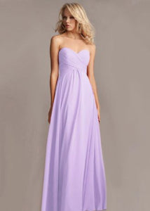Callie lilac sorbet mauve lavender chiffon strapless pleated bridesmaid wedding bridal prom evening dress loulous bridal boutique