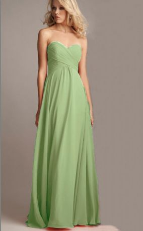 Callie bamboo sage green olive chiffon strapless pleated bridesmaid wedding bridal prom evening dress loulous bridal boutique