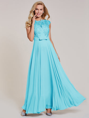 christie aqua spa blue bridesmaid dress
