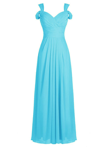Claire - Aqua Spa Blue (Sample Dress - In Stock)