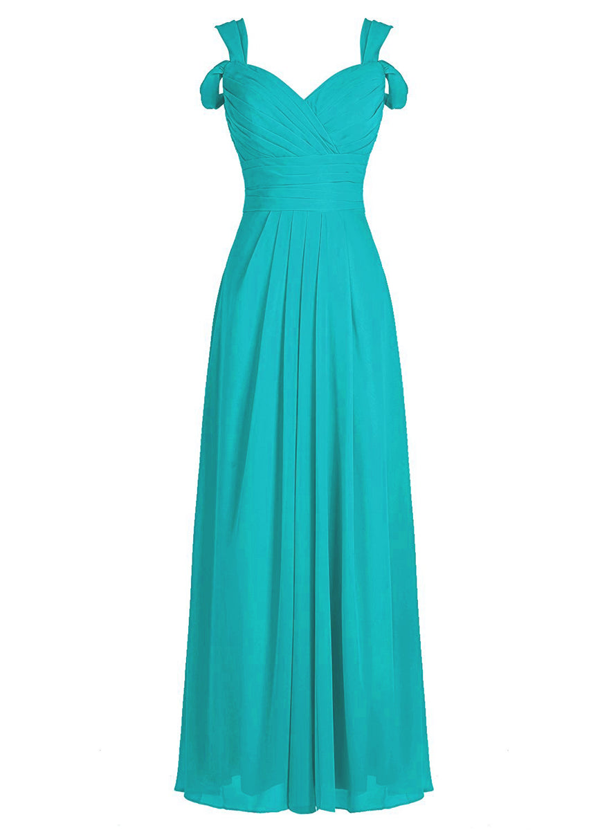Claire Turquoise Blue Cold Shoulder Bridesmaid Prom