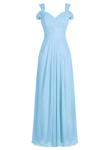 claire light pale pastel blue  cold shoulder long bridesmaid wedding prom bridal dress loulous bridal boutique ltd uk