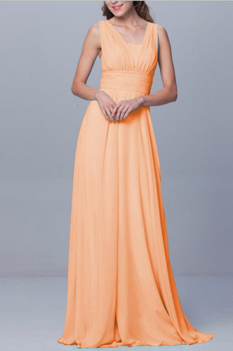 Darcy Apricot Orange Multiway Multi Way Infinity Chiffon long bridesmaid wedding bridal prom evening dress uk