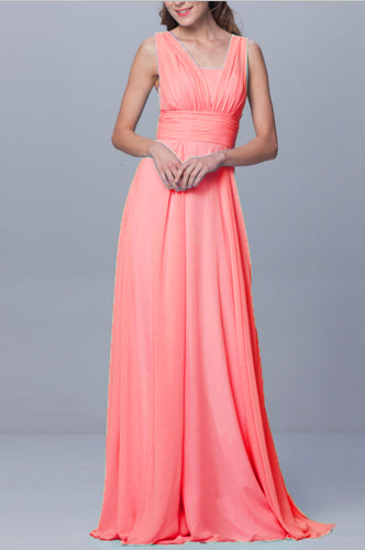 Darcy Coral Multiway Multi Way Infinity Chiffon long bridesmaid wedding bridal prom evening dress uk