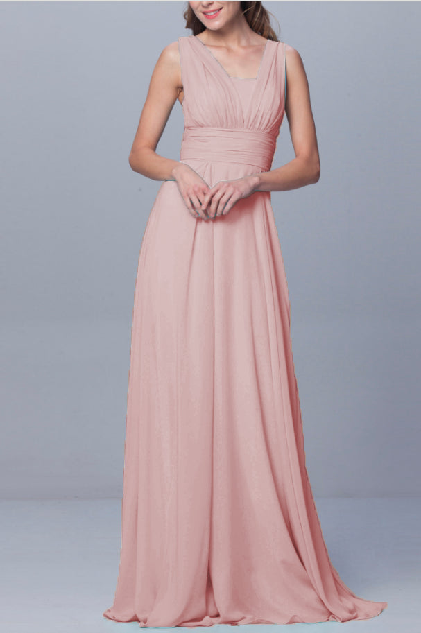 DARCY BLUSH DUSKY PINK MULTIWAY INFINITY CHIFFON BRIDESMAID DRESS LOULOUS BRIDAL BOUTIQUE LTD UK