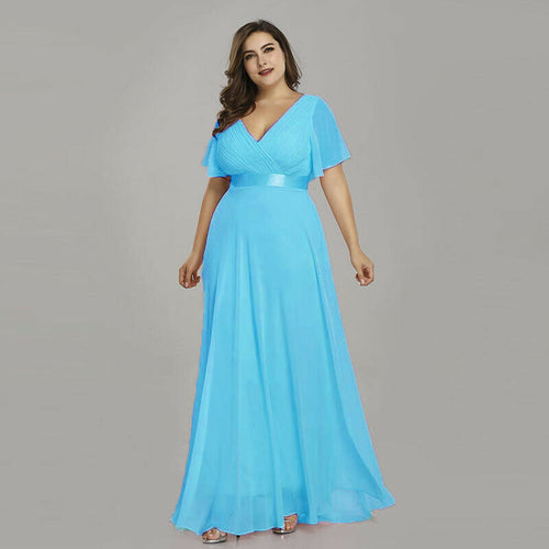 Davina Aqua Spa Blue Turquoise short sleeved vneck bridesmaid wedding bridal dress uk