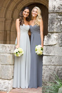 Callie Charcoal Silver Grey Strapless sweetheart chiffon long bridesmaid wedding prom bridal evening dress uk
