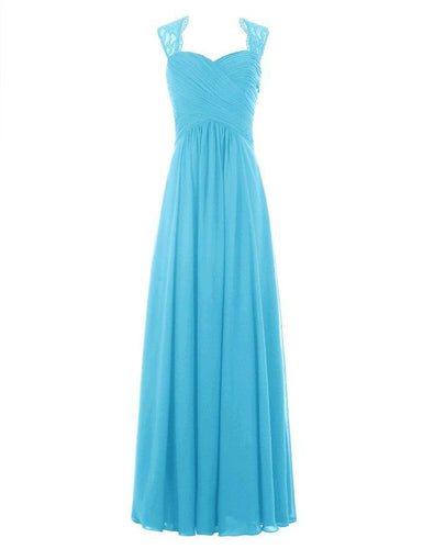 Emma aqua spa blue turquoise lace chiffon long bridesmaid wedding bridal prom dress loulous bridal boutique ltd uk
