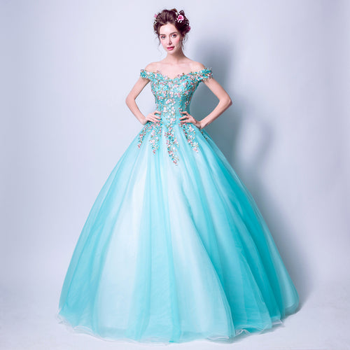 Fairy Tale Esmie Aqua turquoise blue tulle ballgown prom bridesmaid wedding bridal dress loulous bridal boutique uk