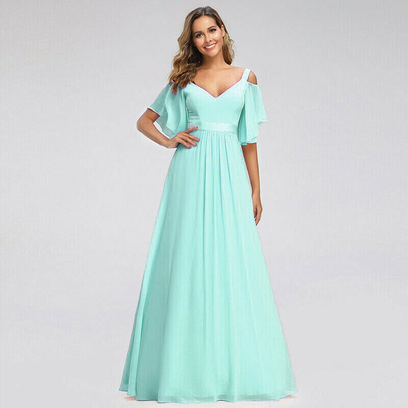 Fleur pale mint green cold shoulder long bridesmaid dress uk loulous bridal boutique ltd uk