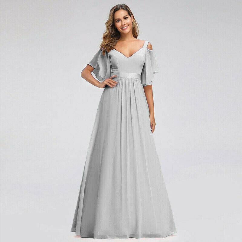 Fleur  - Silver Grey (Sample Dress - In Stock)