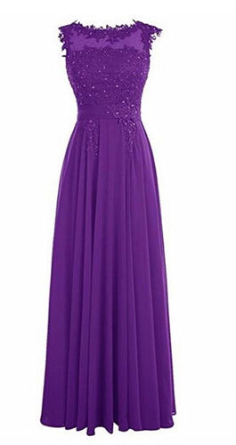 Francesca cadbury purple Lace Chiffon Long Bridesmaid Wedding Bridal Evening Prom Cocktail Dress UK