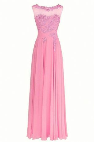 Francesca Peony Pink Rose Lace Chiffon Long Bridesmaid Wedding Bridal Evening Prom Cocktail Dress UK