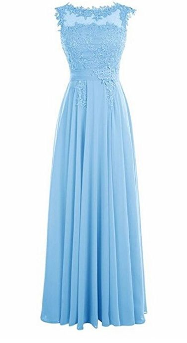 Francesca pale blue lace chiffon sequin beaded long bridesmaid wedding bridal prom evening dress loulous bridal boutique ltd uk