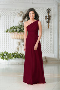 Georgie Burgundy Berry  One Shoulder Bridesmaid Wedding Evening Prom Dress Loulous Bridal Boutique ltd UK