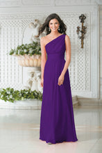 Georgie Cadbury Purple One Shoulder Bridesmaid Wedding Evening Prom Dress Loulous Bridal Boutique ltd UK
