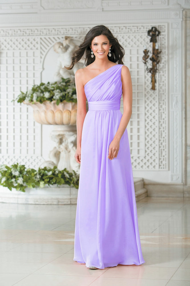 Lilac One Shoulder Long Bridesmaid Evening Prom Dress UK