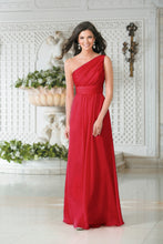 Georgie Red One Shoulder Bridesmaid Wedding Evening Prom Dress Loulous Bridal Boutique ltd UK
