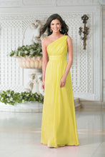 Georgie Yellow Lemon One Shoulder Bridesmaid Wedding Evening Prom Dress Loulous Bridal Boutique ltd UK
