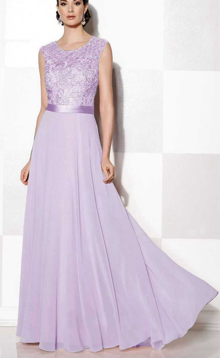 Gracie lilac mauve purple  lace chiffon long bridesmaid evening prom wedding bridal dress loulous bridal boutique ltd uk