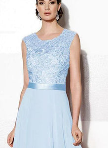 Gracie pale light blue lace chiffon long bridesmaid evening prom wedding bridal dress loulous bridal boutique ltd uk